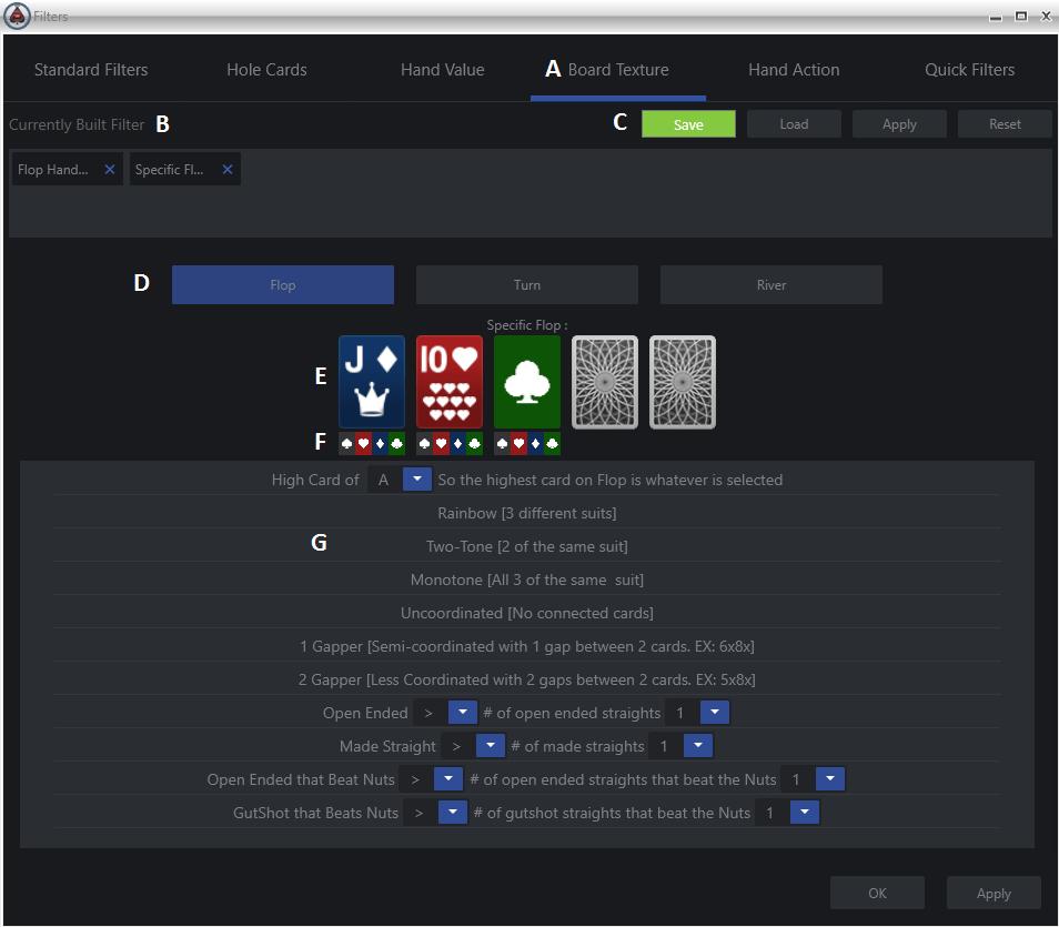 poker board texture