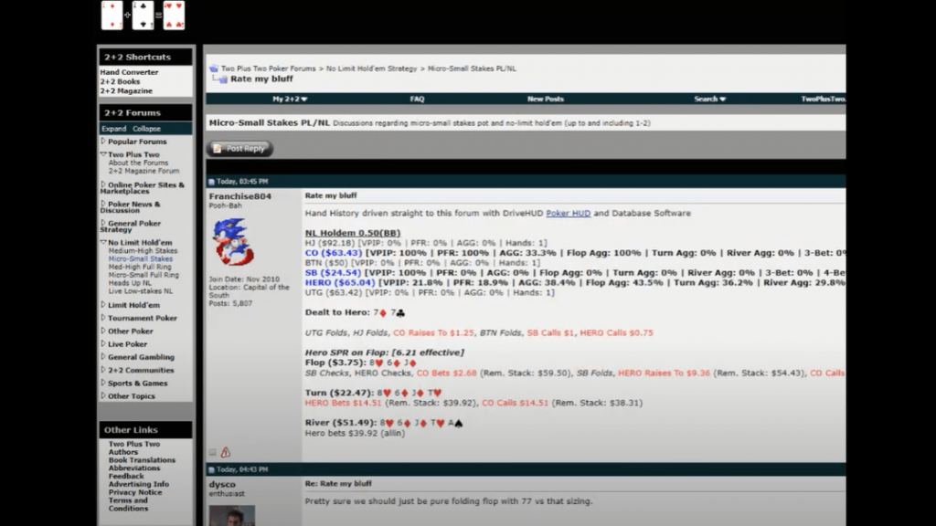 Grab & Import a hand history from any poker forum